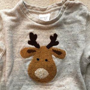 Zara baby boy reindeer sweatshirt